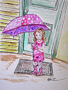 Hello Kitty Paintings - Sophia Pretty in Pink by Kelly     ZumBerge