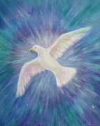Dove Painting Originals - SophiaPacem by Bernadette Wulf