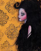 Yellow Fairy Paintings - Sophias Hair by  Abril Andrade Griffith