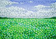 Pointillism Art - Sophias Landscape by Alan Hogan