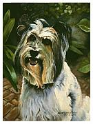 Collie Painting Framed Prints - Sophie Framed Print by Eileen Hale