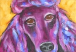 Contemporary Animal  Acrylic Paintings - Sophie Standard Poodle by MaryAnn Ceballos