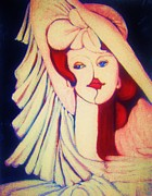 Gay Art  Mixed Media - SOPHISTICATED LADY  2  -  Art Deco by Gunter Erik  Hortz