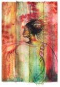 African-american Mixed Media Prints - Sophisticated Lady Print by Anthony Burks
