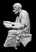 Portrait Sculpture Photograph Prints - SOPHOCLES (c496-406 B.C.) Print by Granger