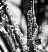 Saxophone Photo Prints - Soprano Saxophone Print by © Rune S. Johnsson