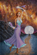 Conjuring Paintings - Sorceress by Dell Rosa