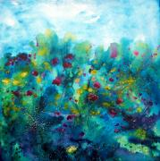 Water Garden Paintings - Soren Splash by Christy  Freeman