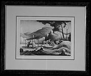 Original Lithographs Drawings - Sorghum Mill F.81 by Thomas Hart Benton