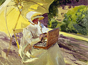 1907 Prints - Sorolla: Painter, 1907 Print by Granger