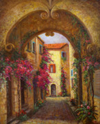 France Doors Painting Posters - Sorrento Italy Poster by Gail Salituri
