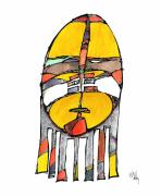 Native-american Mixed Media Prints - Sorrow Print by Dan Daulby