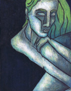 Oil Pastel Prints Originals - Sorrow by Kamil Swiatek