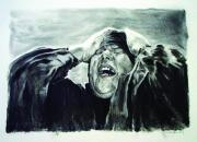 Paul Autodore Drawings Originals - Sorrow by Paul Autodore