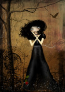 Goth Girl Framed Prints - Sorry Framed Print by Charlene Zatloukal