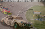 Historic Nascar Posters - sorry Jeff Poster by Bill Dutting