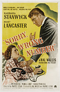 Films By Anatole Litvak Prints - Sorry, Wrong Number, Barbara Stanwyck Print by Everett