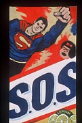 Superman Mixed Media Prints - S.o.s. Print by Diana Riukas