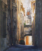 Townscapes Paintings - Soubes by David McEwen