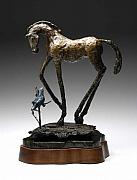 Equine Sculpture Sculptures - Soul Companion by Mindy Z Colton