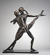 Figures Sculpture Posters - Soul Dance - Front View Poster by Eduardo Gomez