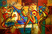 Soul Music Paintings - Soul Jazz by Leon Zernitsky
