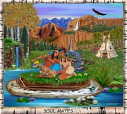 Canoe Digital Art - Soul Mates by Glenn Holbrook