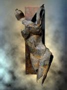 Brown Sculpture Metal Prints - Soul Shard Awakening Metal Print by Ede Ericson Cardell