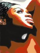 Soul Digital Art Posters - Soul Sista Poster by Byron Fli Walker