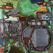 Drum Set Art Prints - Soul the Drums Print by Katia Von Kral