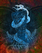 Dragon Lady Prints - Souls Entwined Remix Print by Robert Ball