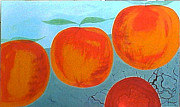 Cauldron Paintings - Souls of Oranges by Lyn Ferlo