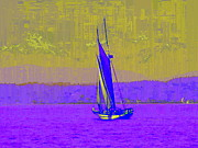 Sailing Digital Digital Art Framed Prints - Sound Sailin 7 Framed Print by Tim Allen