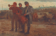 Soldier Paintings - Sounding Reveille by Winslow Homer