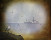 Sea Birds Posters - Sounds Of The Sea Poster by Diane Schuster
