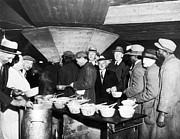 Great Depression Prints - Soup Kitchen, 1931 Print by Granger