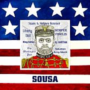 Stripes Drawings Posters - Sousa Poster by Paul Helm