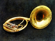 Bands Prints - Sousaphone Print by Susan Savad