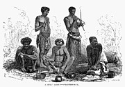 South African Prints - South Africa: Zulus, 1864 Print by Granger