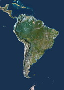South American Photos - South America by Planetobserver