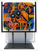Orange Glass Art Originals - South Beach by Mark Lubich