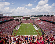Mascot Metal Prints - South Carolina View from the Endzone at Williams Brice Stadium Metal Print by Replay Photos