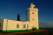 St Margaret Photo Prints - South Foreland Lighthouse Print by Serena Bowles