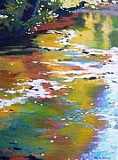 Small Abstract Paintings - South Fork Silver Creek by Melody Cleary