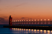 Dark Cloud Prints - South Haven Reflection Print by Sebastian Musial