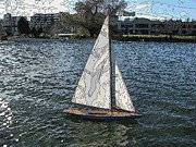 Lake Union Prints - South Lake Union Sail Print by Tim Allen