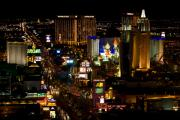 The Strip Photo Framed Prints - South Las Vegas Strip Framed Print by James Marvin Phelps