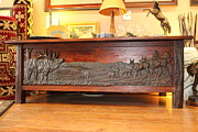Rustic Reliefs - South Loop Elk Coffee Table by Peggy Detmers
