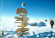 Coldest Prints - South Magnetic Pole Near Vostok Base Print by Ria Novosti