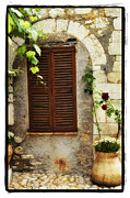 Window Framed Prints Framed Prints Pyrography Framed Prints - South of France Framed Print by Mauro Celotti